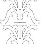 moldes para candelabros de carton