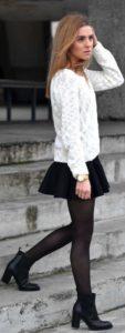 outfit con botines de tacon