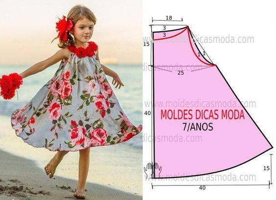 patrones de vestidos de moda para niñas