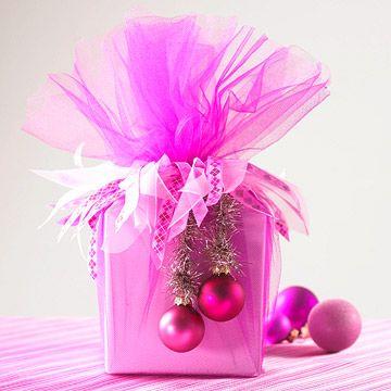 regalos navideños en tul modernos