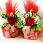 regalos navideños en tul sencillos