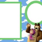 stickers de masha y el oso para imprimir