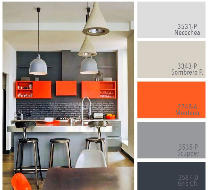cuales son colores recomendados para cocinas y porque