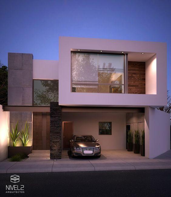 Fachadas de casas elegantes ideas bonitas para for Fachadas de casas nuevas modernas