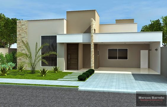 Fachadas de casas modernas 2019 ideas bonitas para for Fotos de casas modernas un piso