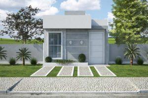 fachadas de casas modernas deun piso pequeñas
