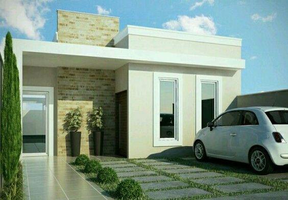Fachadas de casas modernas 2019 ideas bonitas para for Fachadas de casas modernas pequenas de infonavit