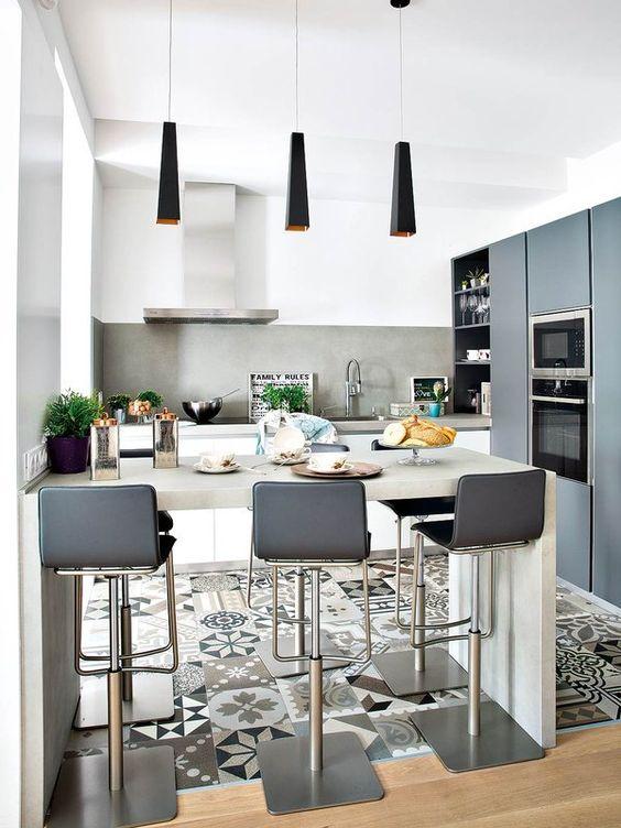 gamas de colores ideales para cocinas pequeñas - Ideas Bonitas Para