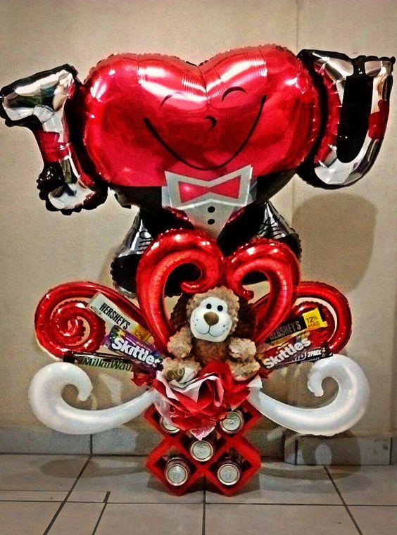 manualidades sencillas para el dia de amor y amistad con globos