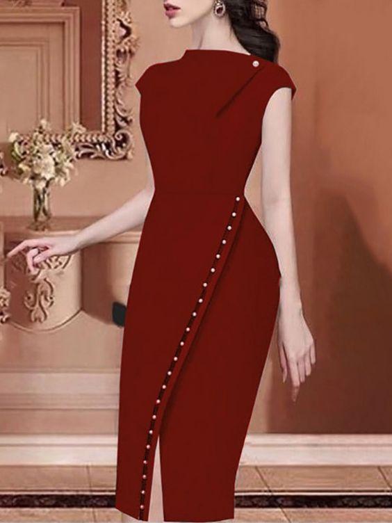 vestidos rojos audazces y simples