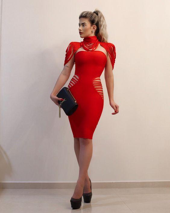 vestidos rojos coquetos y atrevidos