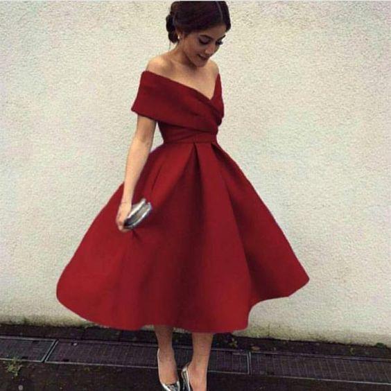 vestidos rojos cortos con vuelo