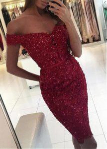 vestidos rojos elegante con toques sutiles de sensualidad