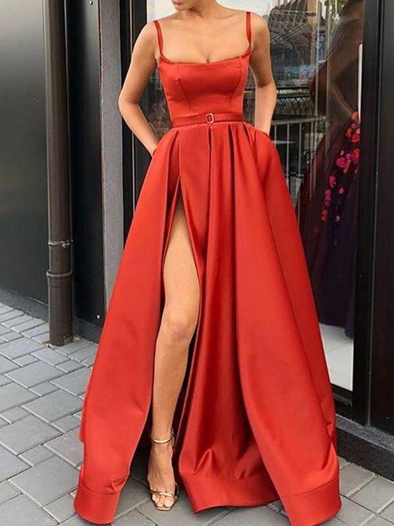 vestidos rojos largos 2019