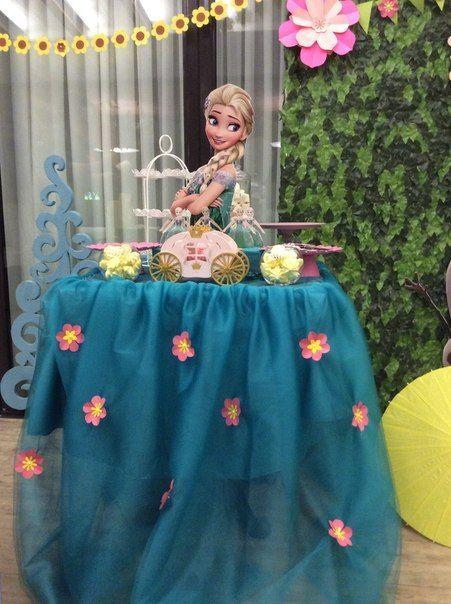 curso - taller de como hacer mesa de princesa frozen