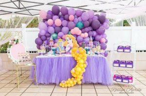 curso - taller de como hacer mesa de princesa rapunzel