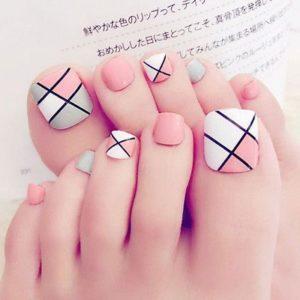 diseños de uñas para pies juveniles