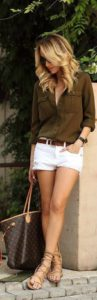 outfit con short blanco