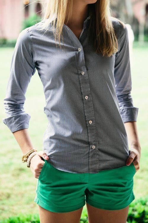 outfits con short de vestir