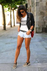 outfits con short y tenis