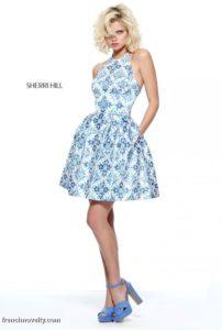 tendencias en vestidos tono royal blue - tipo talabera 2019