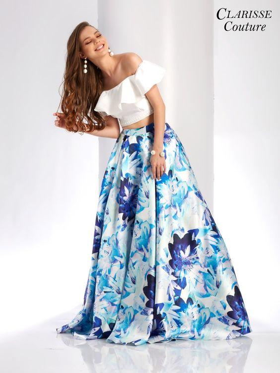 tendencias en vestidos tono royal blue - tipo talavera 2019