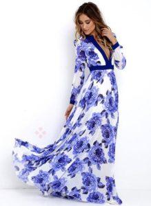 tendencias en vestidos tono royal blue - tipo talabera
