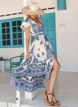 Tendencias en vestidos tono royal blue - tipo talavera para el verano