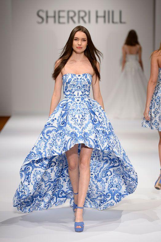 vestidos de noche tono royal blue - tipo talavera