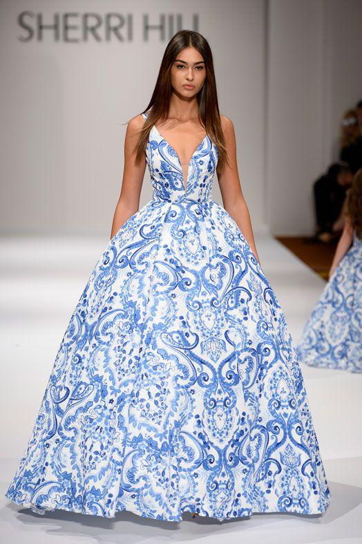 vestidos de noche tono royal blue - tipo talabera