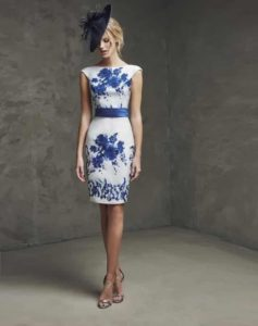 vestidos para coctel royal blue - tipo talabera