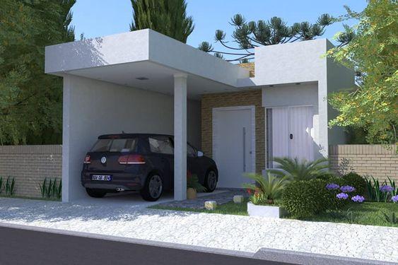 Casa pequeña tipo Infonavit con cochera para un auto
