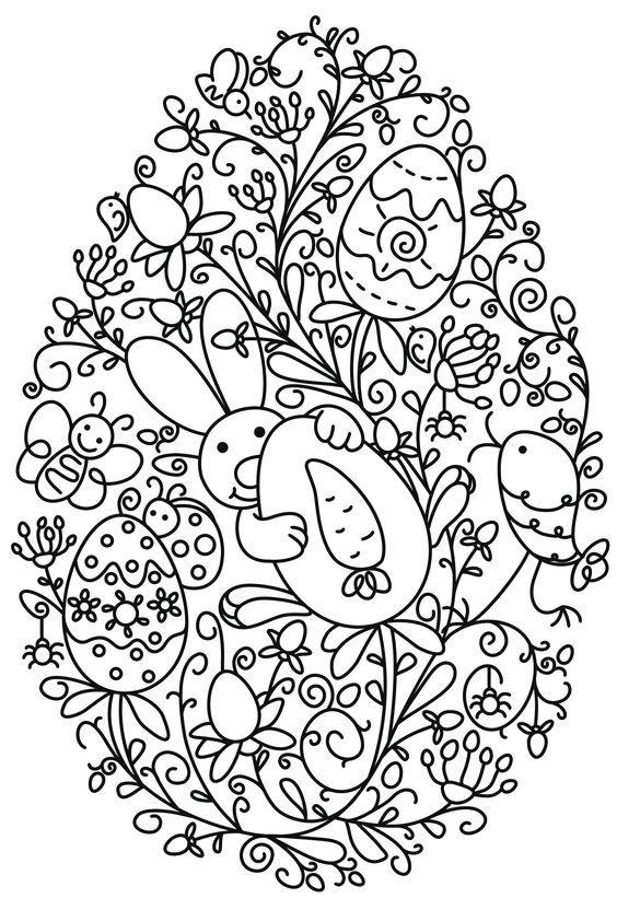 Dibujos impresos para colorear para semana santa