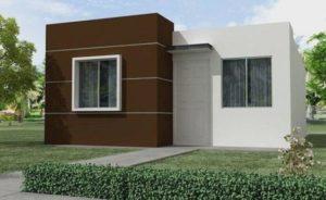 Idea para construir una casa pequeña de una planta tipo minimalista