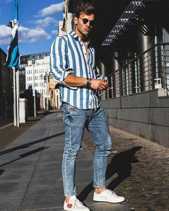Moda 2019 hombre juvenil con jeans