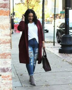 Outfits casuales con pantalones para chicas plus size