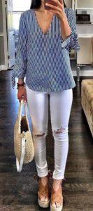 blusas de moda 2019 con rayas