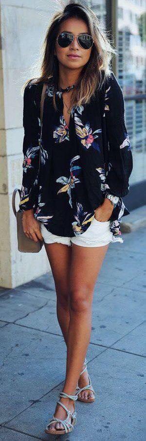 blusas de moda para esta temporada 2019 con estampado floral