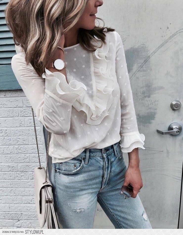 blusas de moda para esta temporada del 2019 con holanes