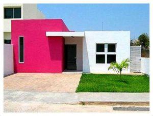 fachada para casa pequeña sin detalles en las paredes