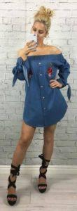 vestidos de mezclilla casuales