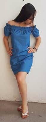 vestidos de mezclilla corte campesina