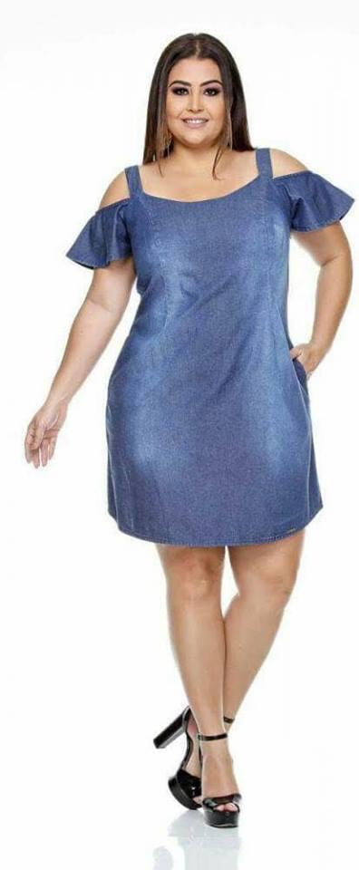 vestidos de mezclilla para gorditas