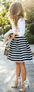 Diseños de faldas de vestir con corte circular