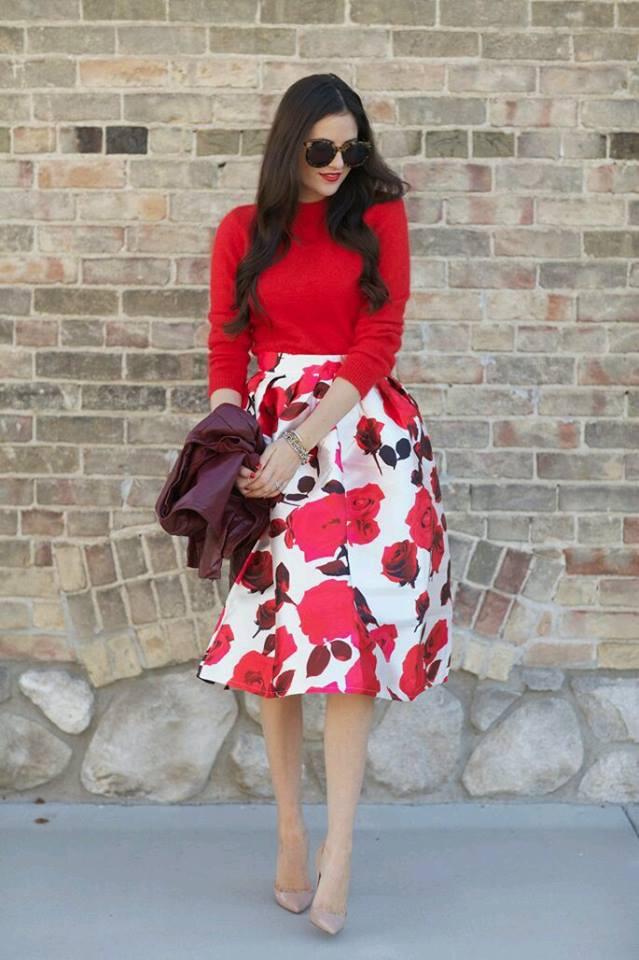 Faldas circulares con estampado florales