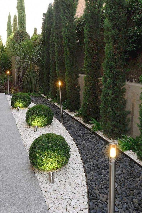 Decoración de jardines clásicos modernos