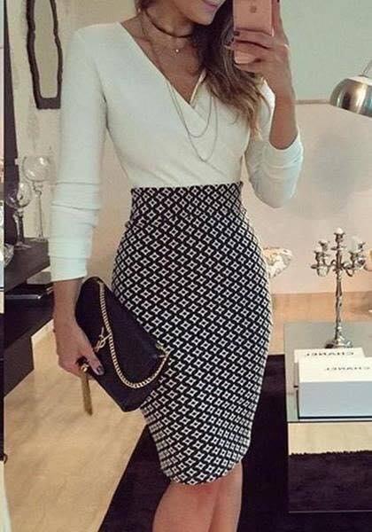 d1cabd05d Look para oficina para mujeres maduras con faldas - Ideas Bonitas Para