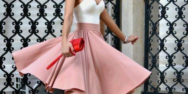 Modas de faldas Modas de faldas elegantes colores lisoselegantes colores lisos