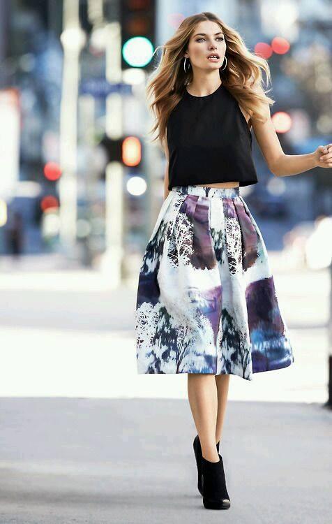 Modelos de faldas juveniles con estampados