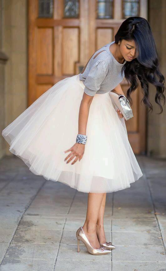 Modelos de faldas modernas y elegantes de tul